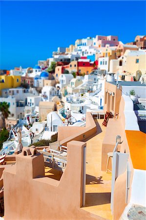 Houses, Oia, Santorini, Greece. Stock Photo - Premium Royalty-Free, Code: 679-07608241