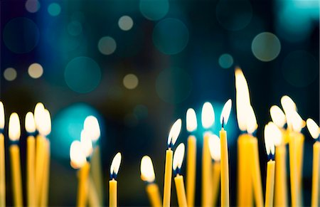 Church candles, close up. Stock Photo - Premium Royalty-Free, Code: 679-07608258