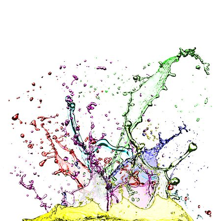 paint - Colourful splashes against a white background. Stock Photo - Premium Royalty-Free, Code: 679-07608268
