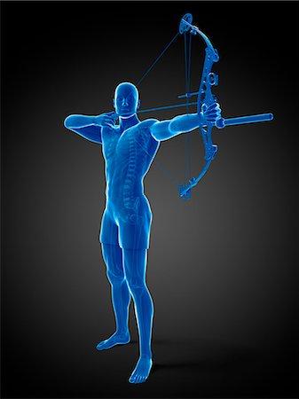 Archer, computer artwork. Stock Photo - Premium Royalty-Free, Code: 679-07603020