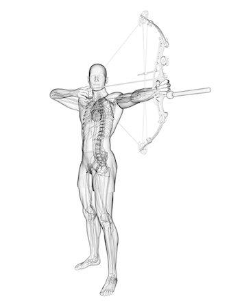 Archer, computer artwork. Stock Photo - Premium Royalty-Free, Code: 679-07603036