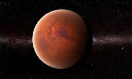 Mars, computer artwork. Stock Photo - Premium Royalty-Free, Code: 679-07603225
