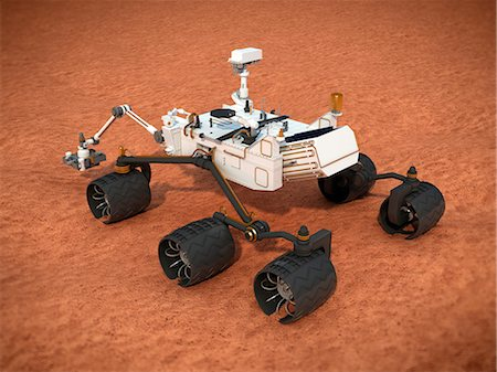 discovery - Curiosity Mars rover, computer artwork. Stock Photo - Premium Royalty-Free, Code: 679-07603766