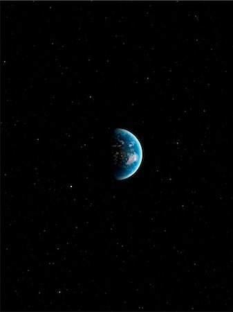 Earth from space, computer artwork. Stock Photo - Premium Royalty-Free, Code: 679-07603787