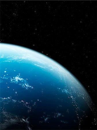 Earth from space, computer artwork. Stock Photo - Premium Royalty-Free, Code: 679-07603790