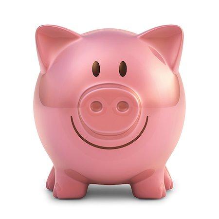 Pink piggy bank, artwork. Stock Photo - Premium Royalty-Free, Code: 679-07732365