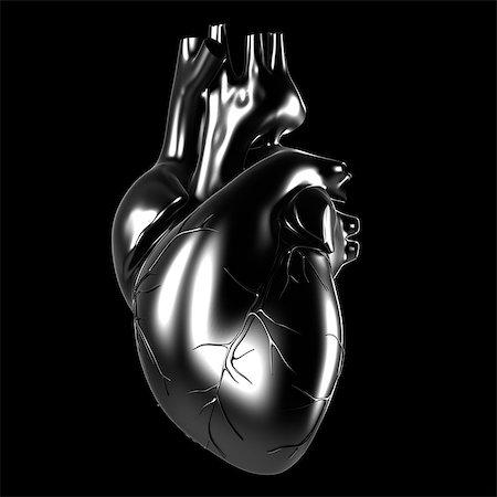Human heart, computer artwork. Stock Photo - Premium Royalty-Free, Code: 679-07764225
