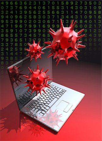 Computer virus, artwork Stock Photo - Premium Royalty-Free, Code: 679-07814047