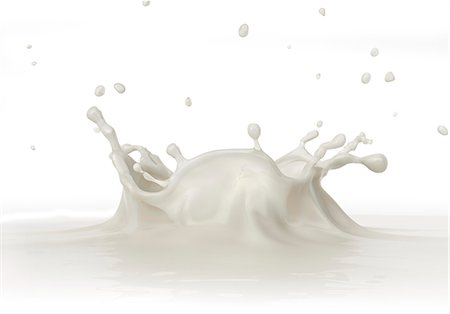 White liquid splashing, computer artwork. Stock Photo - Premium Royalty-Free, Code: 679-07846226