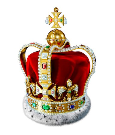 Crown with jewels, computer artwork. Stock Photo - Premium Royalty-Free, Code: 679-07846258