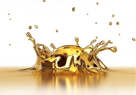 splash - Gold liquid splashing, computer artwork. Stock Photo - Premium Royalty-Free, Code: 679-07846280