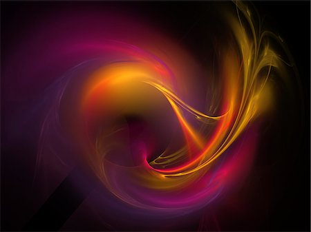 flowing - Light pattern, computer artwork. Stock Photo - Premium Royalty-Free, Code: 679-07846376