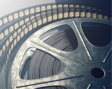 film strip - Old fashioned movie reel, computer illustration. Stock Photo - Premium Royalty-Free, Code: 679-07962041