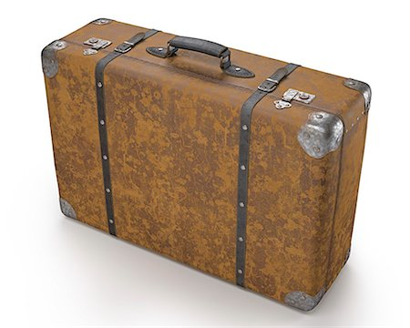 Vintage suitcase, computer illustration. Stock Photo - Premium Royalty-Free, Code: 679-07962059