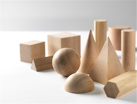 shape - Geometric wooden shapes used in maths and calculus education. Stock Photo - Premium Royalty-Free, Code: 679-07962145