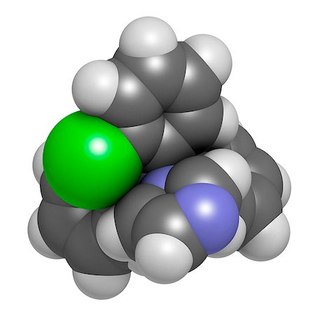 foot model - Clotrimazole antifungal drug molecule. Used in treatment of athlete's foot, ringworm, vaginal yeast infection, oral thrush, etc. Atoms are represented as spheres with conventional color coding: hydrogen (white), carbon (grey), nitrogen (blue), chlorine (green). Stock Photo - Premium Royalty-Free, Code: 679-08009879