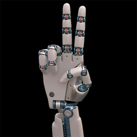 futuristic - Robotic hand, illustration Stock Photo - Premium Royalty-Free, Code: 679-08026954