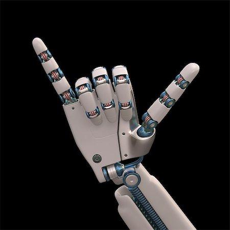 futuristic - Robotic hand, illustration Stock Photo - Premium Royalty-Free, Code: 679-08026958