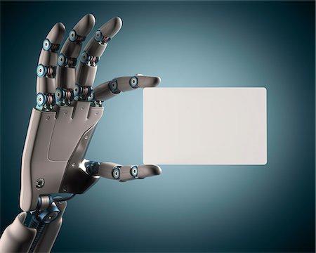 Robotic hand, illustration Stock Photo - Premium Royalty-Free, Code: 679-08026950