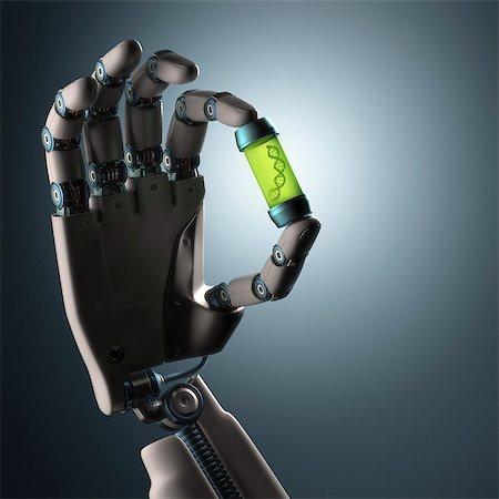 Robotic hand, illustration Stock Photo - Premium Royalty-Free, Code: 679-08026952