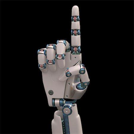 futuristic - Robotic hand, illustration Stock Photo - Premium Royalty-Free, Code: 679-08026953