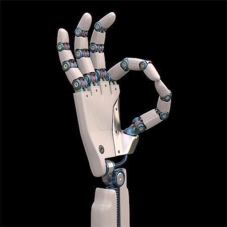 futuristic - Robotic hand, illustration Stock Photo - Premium Royalty-Free, Code: 679-08026961