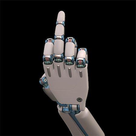 futuristic - Robotic hand, illustration Stock Photo - Premium Royalty-Free, Code: 679-08026962