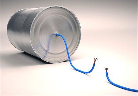 Tin can telephone, illustration Stock Photo - Premium Royalty-Free, Code: 679-08027020