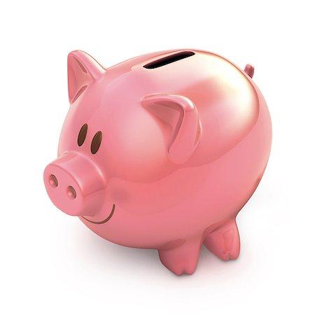 Piggy bank, illustration Stock Photo - Premium Royalty-Free, Code: 679-08027044