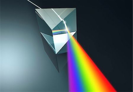 refraction - Prism , illustration Stock Photo - Premium Royalty-Free, Code: 679-08027047