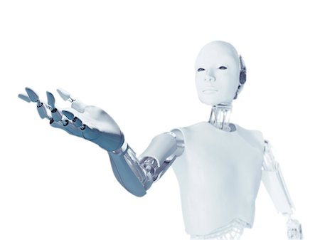 Robot with arm extended, computer illustration. Stock Photo - Premium Royalty-Free, Code: 679-08121803