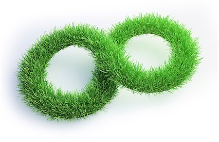 symbol - Grass in the shape of an infinity symbol, computer illustration. Stock Photo - Premium Royalty-Free, Code: 679-08121824