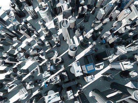 Urban sprawl, computer illustration. Stock Photo - Premium Royalty-Free, Code: 679-08361024