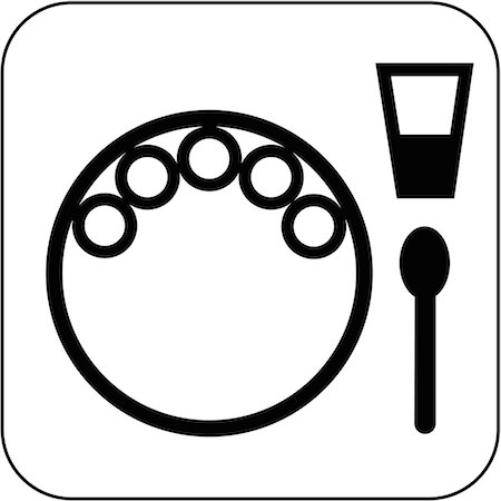 Vegetarian meal symbol, computer artwork. The symbols on the plate represent vegetables. Stock Photo - Premium Royalty-Free, Code: 679-02684936