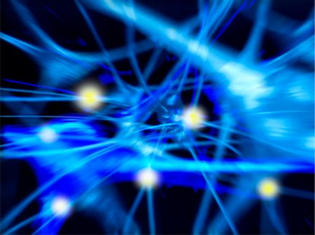 synapse - Nerve cells. Computer artwork of nerve cells, or neurons. Stock Photo - Premium Royalty-Free, Code: 679-02681902