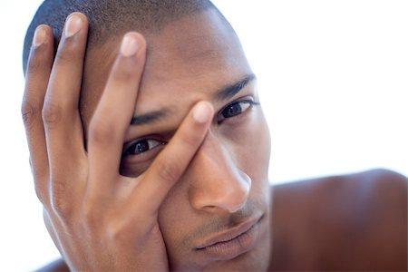 skinhead - Depressed young man. He is twenty years old. Stock Photo - Premium Royalty-Free, Code: 679-02682400