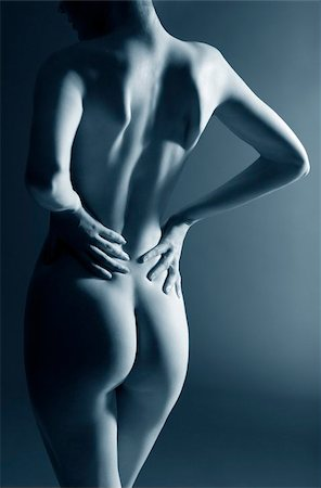 female nude hip - Lower back pain Stock Photo - Premium Royalty-Free, Code: 679-02995192