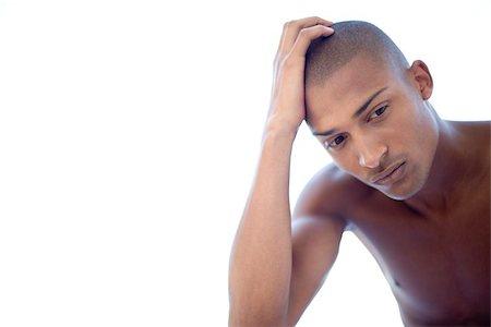 skinhead - Depressed man Stock Photo - Premium Royalty-Free, Code: 679-02995930