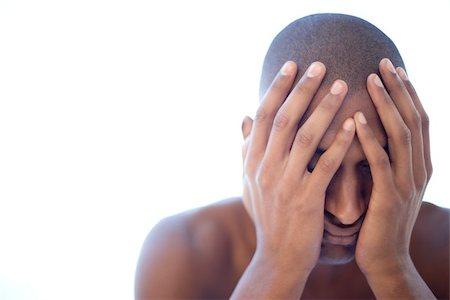skinhead - Depressed man Stock Photo - Premium Royalty-Free, Code: 679-02996063