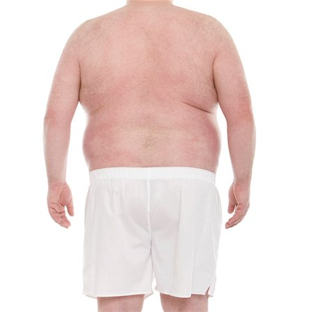 shirtless men - Overweight man. Stock Photo - Premium Royalty-Free, Code: 679-03678740
