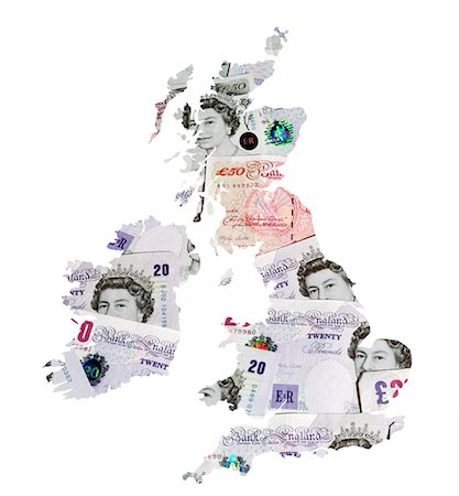 British currency, conceptual artwork. Stock Photo - Premium Royalty-Free, Code: 679-03679406