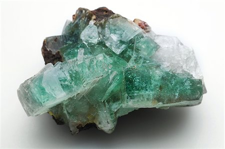 Green apophyllite from Jalgaon, India. Stock Photo - Premium Royalty-Free, Code: 679-03679940