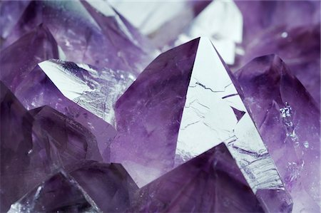 Amethyst crystals from Gerais, Brazil. Stock Photo - Premium Royalty-Free, Code: 679-03679951