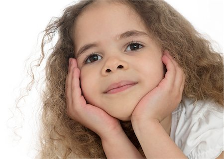 Young girl. She is four. Stock Photo - Premium Royalty-Free, Code: 679-03680035