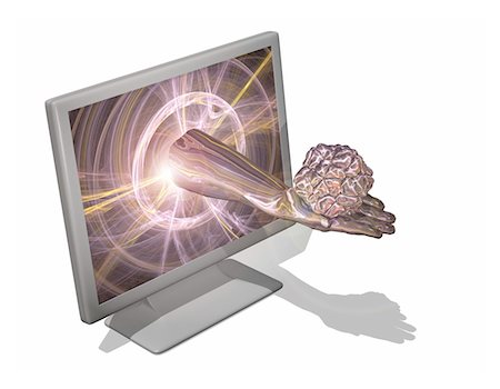 Computer virus, conceptual computer artwork. Stock Photo - Premium Royalty-Free, Code: 679-03680681