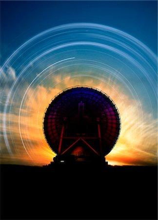 radio telescope - Radio telescope and star trails, computer artwork. Stock Photo - Premium Royalty-Free, Code: 679-03680981