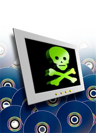 Pirate software, conceptual computer artwork. Stock Photo - Premium Royalty-Free, Code: 679-03681003