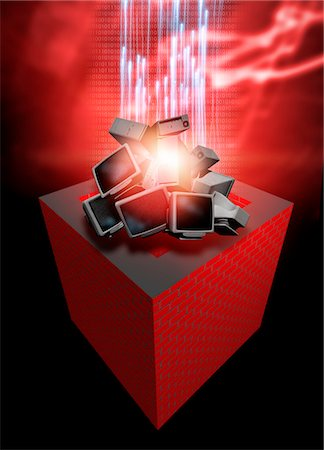dependable - Firewall protection, conceptual computer artwork. Stock Photo - Premium Royalty-Free, Code: 679-03681176