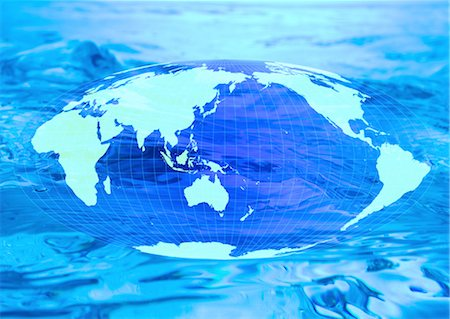 World map and water image Stock Photo - Premium Royalty-Free, Code: 670-06449994
