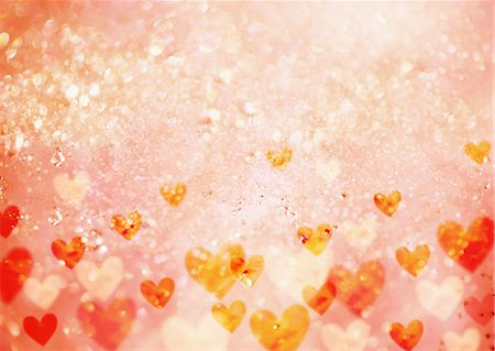 Hearts background, CG Stock Photo - Premium Royalty-Free, Code: 670-06451577